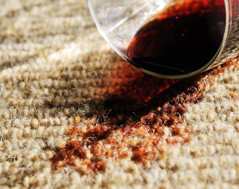 wine spill - stain removal
