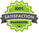 100% satisfaction guarantee with California Steam Clean