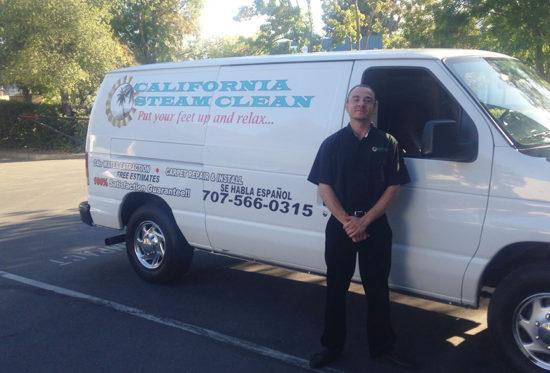California Steam Clean Employee by Van